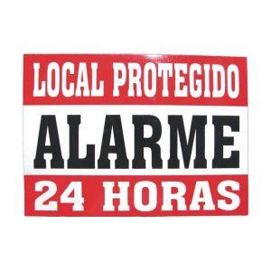 PLACA LOCAL PROTEGIDO EM ALUMINIO - 17,5X13 CM - SO FRENTE