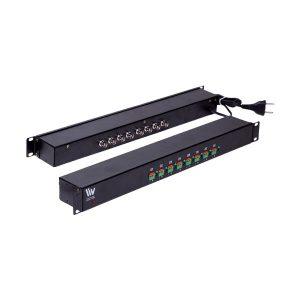 PAINEL 19 POL 1U - CONVERSOR ATIVO 1.200M - 8 CANAIS - LIV