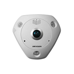 CAMERA FISHEYE IP 12MP 1,98MM 15MTS 1/1.7 4000X3072P 360º H.264 DWDR POE - DS-2CD63C2F-IS -HIKVISION