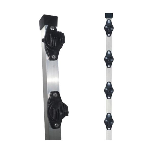 HASTE LISA TUBO QUADRADO 30X30 80 CM C/4 ISOLADORES W – PARAFUSO – CONSIFEG 1