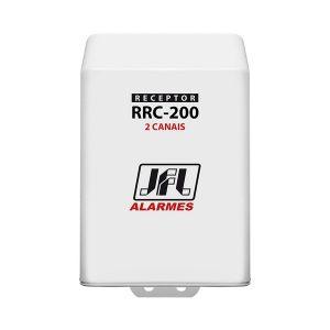 RECEPTOR 2 CANAIS - 300TX/40 SENSORES 433,92MHz - C/ OU S/ RETENÇÃO - 2 RELE - RRC-200  - JFL