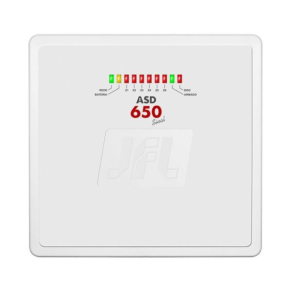 CENTRAL DE ALARME 6 Z PROG (4 MISTAS E 2 C/FIO) C/DISC – SEM TECLADO – ASD-650 SINAL – JFL 1