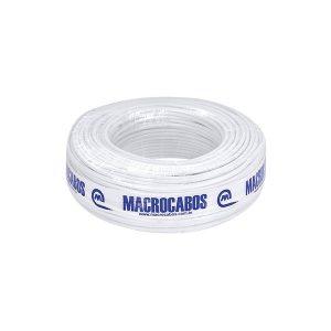 CABO COAXIAL 59 95% + TRIP 100M BRANCO MACROCABOS