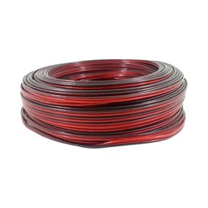 CABO PARALELO BICOLOR 2X18 (0,75) AWG PT-VM 100MTS MACROCABOS