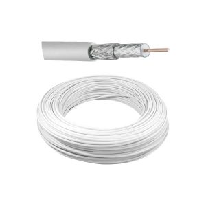 CABO COAXIAL HD 4MM 750OHM 200MTS BLINDADO ANTI CHAMA (LSZH) BRANCO - LV-HDCB 80% EXTERNO -LUXVISION