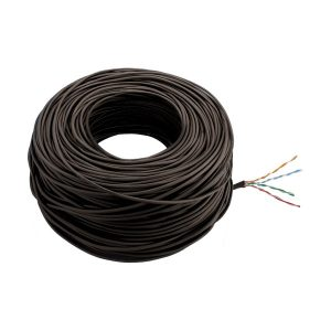 CABO LAN CAT5 4 PARES X 0,50 - CX C/305MTS - PRETO - ANATEL 100% COBRE - NEXT CABLE