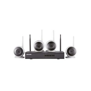 KIT MONITORAMENTO NVR 4B WIFI - 1 DS-7604NI-K1/W C/1HD 1TB 4 CAM BULLET 2MP IP66 30M HIKVISION HOME