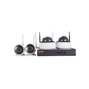 KIT MONITORAM. NVR 4BD WIFI -1 DS-7604NI-K1/W C/1HD 1TB -2 BULLET/2 DOME 2MP IP66 30M HIKVISION HOME