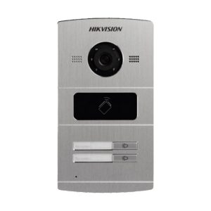 VIDEO PORTEIRO IP 1.3MP 2 TECLAS-ACESSA 12 UNID. INTERNAS POE RS485 IP65 12V -DS-KV8202-IM HIKVISION
